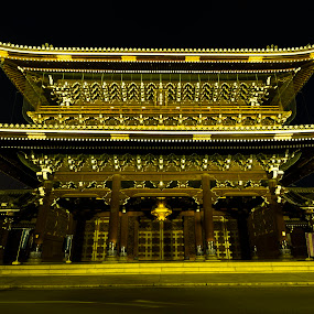 by Oemar Patex - Buildings & Architecture Public & Historical ( japan, night, asia, temple, gate )