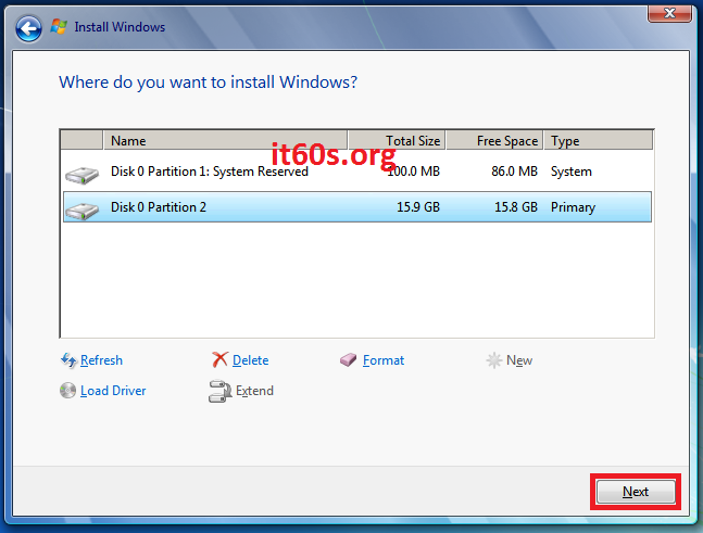 Thủ thuật khắc phục lỗi 0x80070057 khi cài Windows 7 15