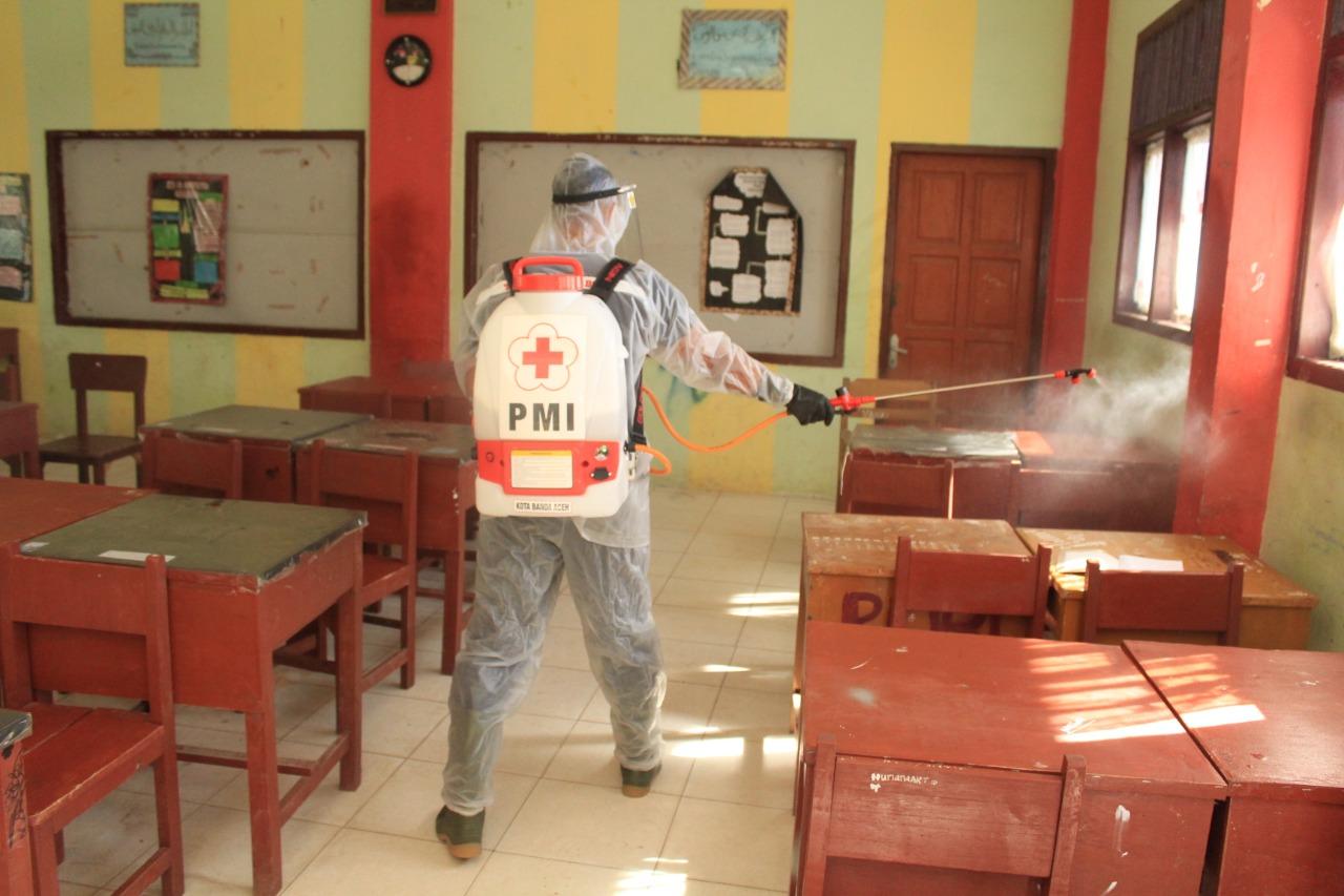 Pmi Kota Banda Aceh Kembali Semprot Disinfektan