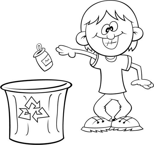Dibujos De Reciclar Para Colorear