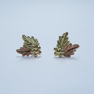 10K Gold Two-Tone Earrings
