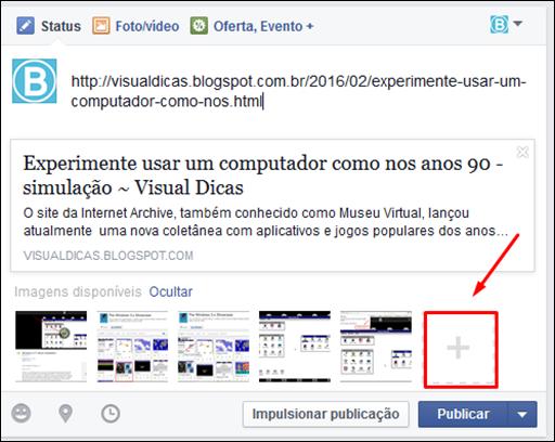 Como postar fotos com links no Facebook - Visual Dicas