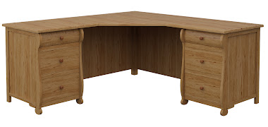 Classical L-Shaped Desk