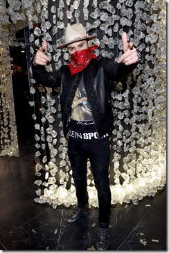 attends Philipp Plein Boutique Opening  during Milan Men's Fashion Week Fall/Winter 2017/18 on January 15, 2017 in Milan, Italy.