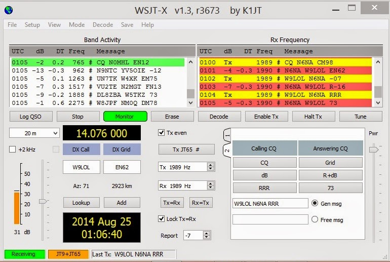 Get on the Air with Digital: JT65, Sep 2014 Meeting