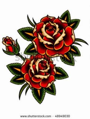 Tattoo Style Roses Stock Vector Illustration 48949030  Shutterstock
