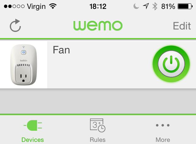 WeMo iOS App