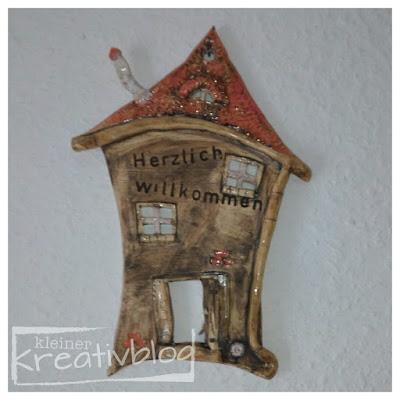 """kleiner-kreativblog: Schild """"Herzlich Willkommen"""""""