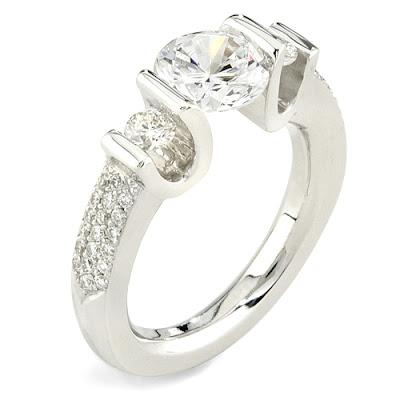Tension Wedding Ring 45 Fancy Tension Setting Ring Gelin
