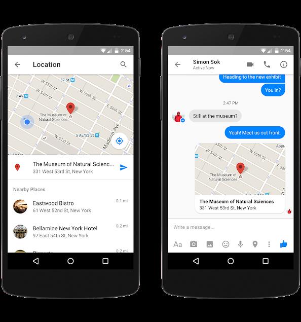 Messenger location sharing3