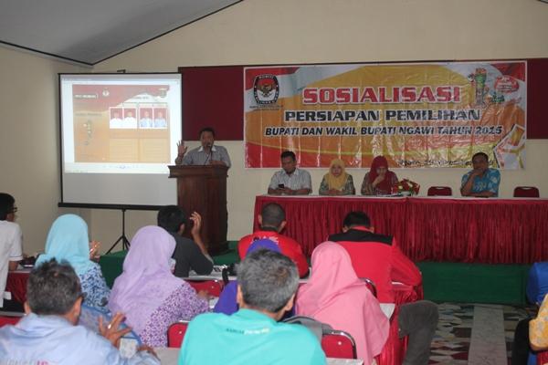 KPUD Kabupaten Ngawi sosialisasikan tahapan pilkada 2015