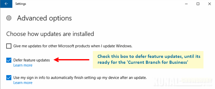 How to temporarily defer installing Windows 10 Creators Update for few months? (www.kunal-chowdhury.com)