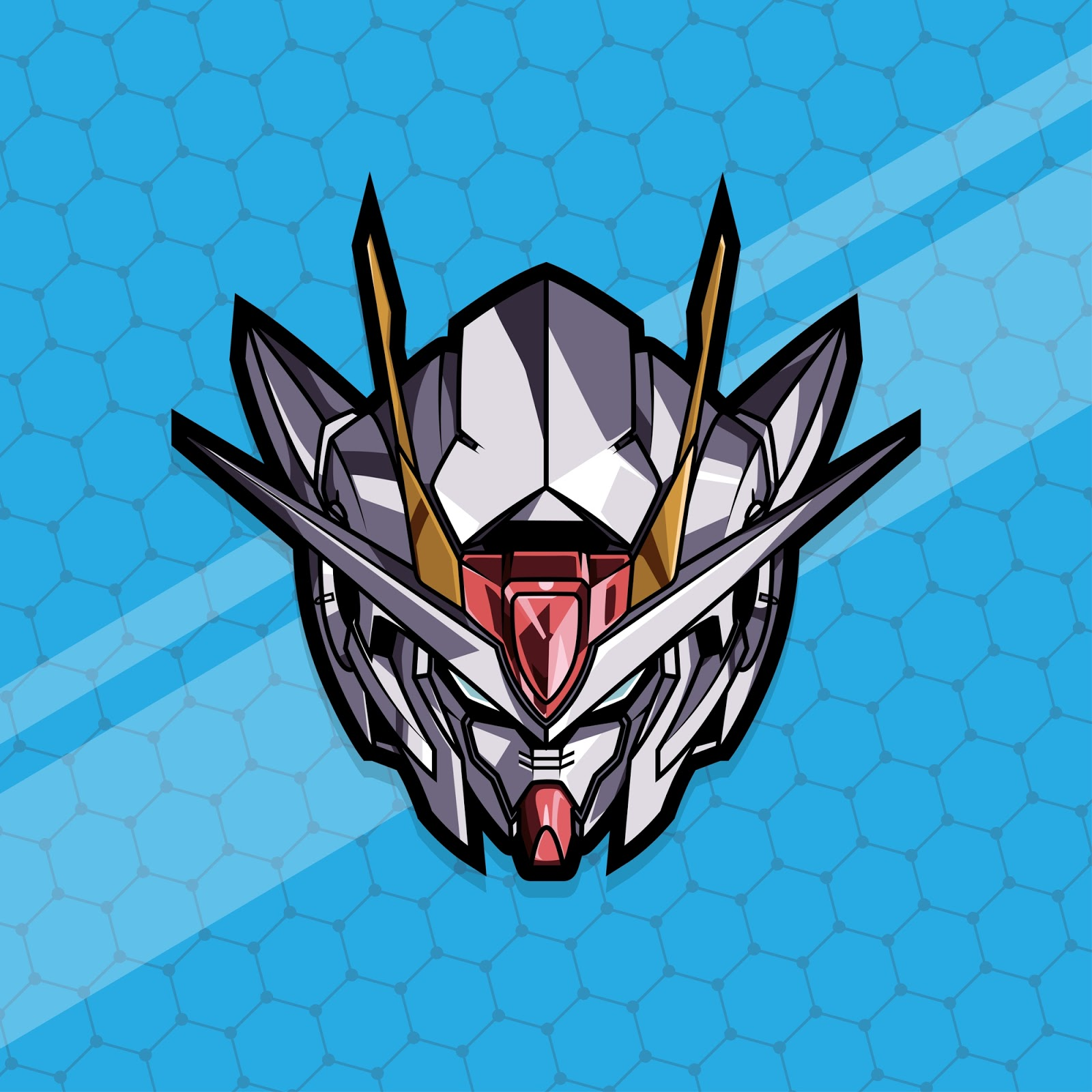 Esport Gamer Logo Gundam Free Download Vector CDR, AI, EPS and PNG Formats