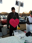 """Steve says """"Be Mine, ATC!"""" (The volunteers were having a costume contest.)"""