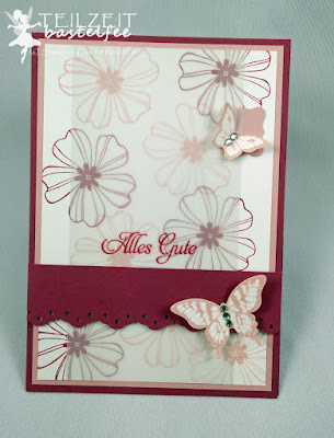 Stampin' Up! - In{k}spire_me #211, Flower Shop, Papillon Potpourri, Galante Grüße, Häkel-Bordürenstanze, Kleines Geschwungenes Etikett, Mini Curly Label, Butterfly Punch
