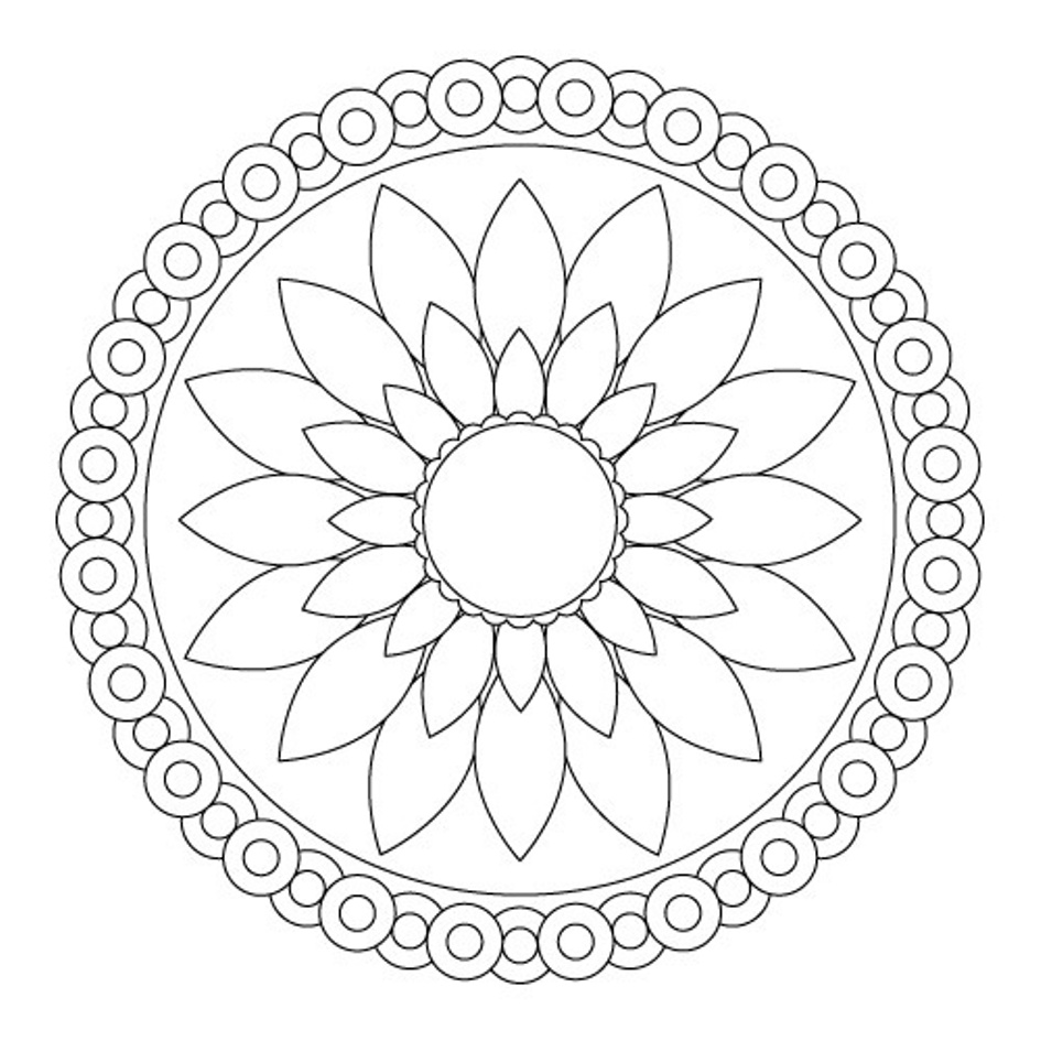 Top 10 Flowers Coloring Pages Mandala Designs Image