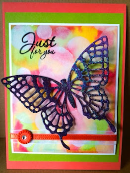 Linda Vich Creates: Dazzling Diamonds Meets Wonderful Watercolor. Card created by Charlene Lee.