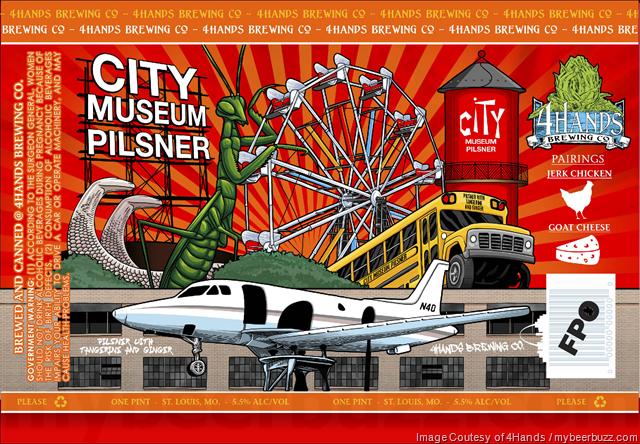 4Hands Brewing - City Museum Pilsner Cans