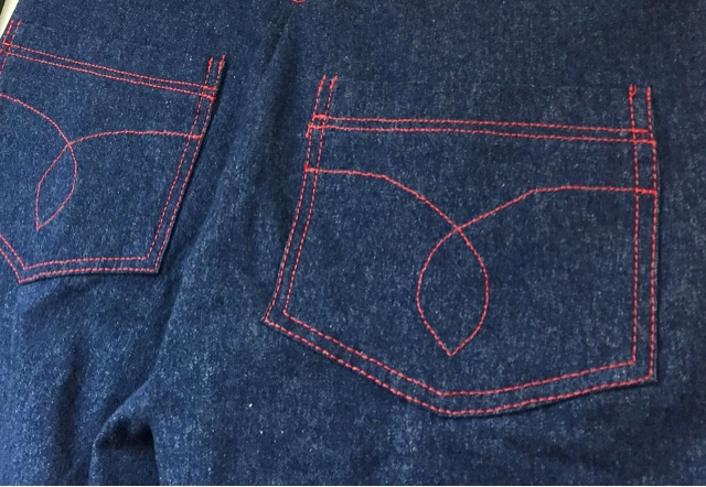 Coudre un jean taille haute