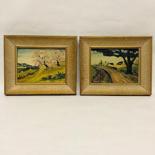 Jennie Moore Oil Painting Pair