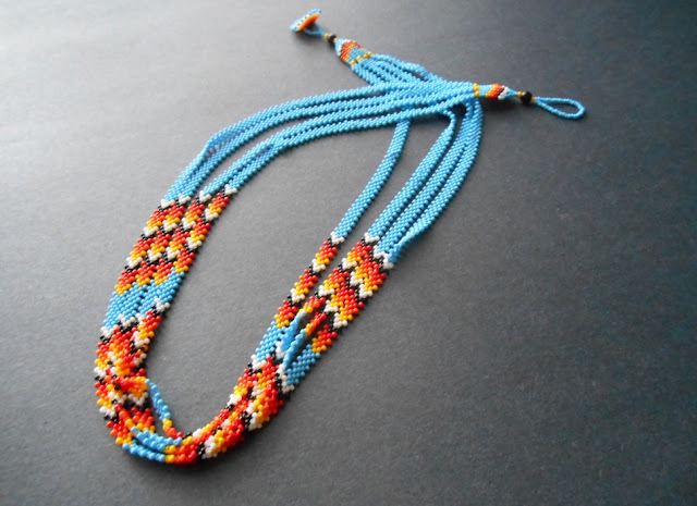 Multistrand Potawatomi Chain with Chevrons