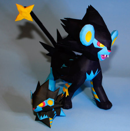 Pokemon Luxray Papercraft