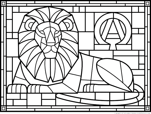 Coloring Sheet Patterns  Coloring Pages Stained Glass Patterns Page