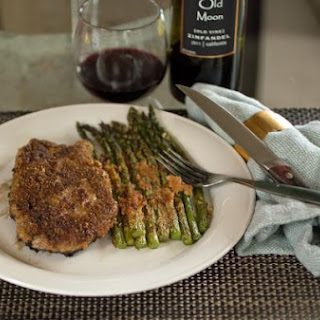 Almond Crusted Salmon Fillets with Roasted Broccolini.