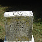Gleaves Andrew 1851 -1893 Mattie - His Wife 1856 - 1935 Andrew was the son of Benjamin F. & Jane Crockett Gleaves; his wife was Mattie E. Frost