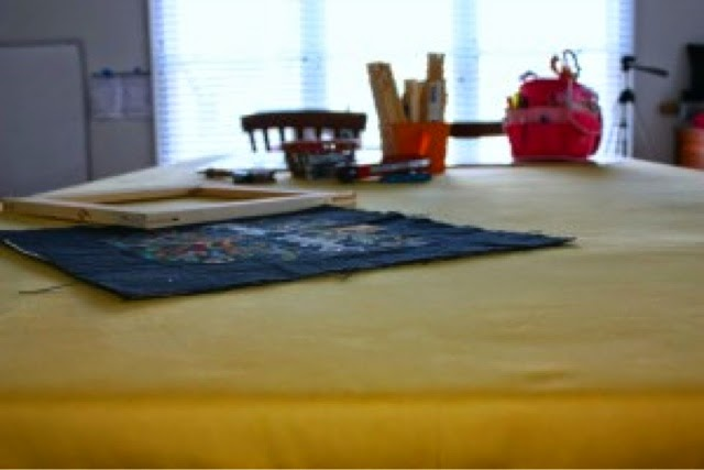 Workroom Table | Studio Tour | Photo Tour | Embroidery and Sewing Studio | Belinda Lee Designs