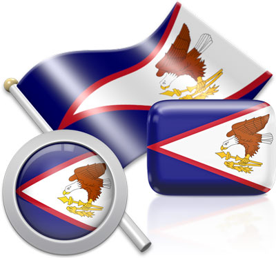 American Samoan flag icons pictures collection