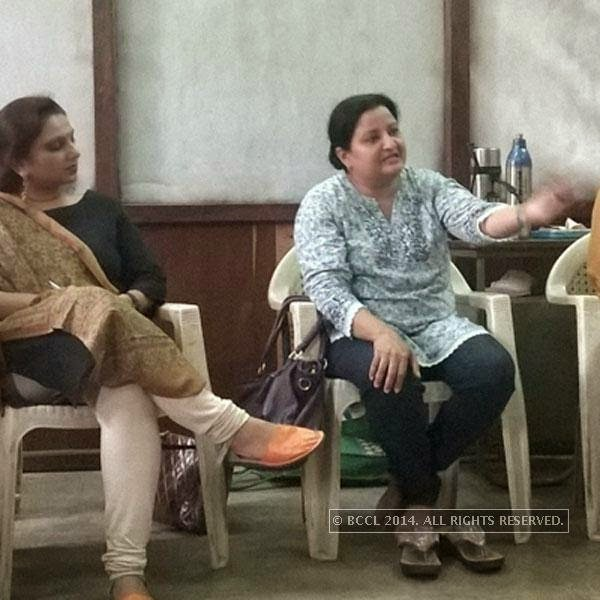 Diana Rawal at a theatre workshop in Ahmedabad.