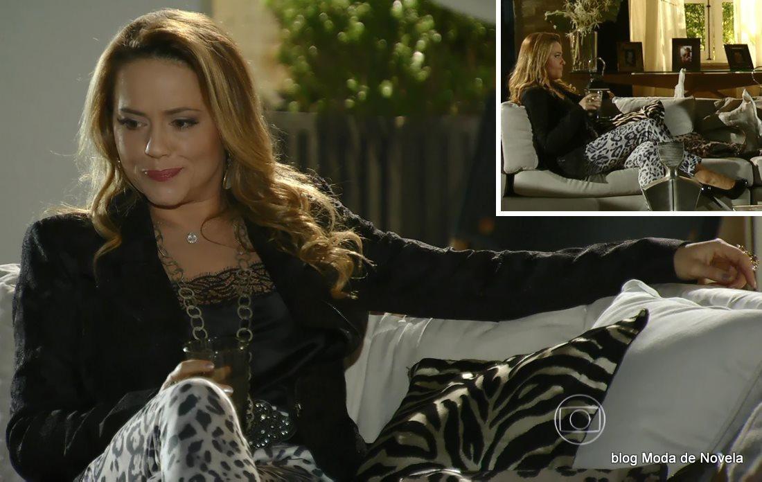 moda da novela Em Família - look da Shirley dia 2 de julho