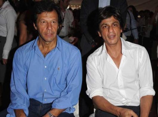 Shahrukh Khan with Imran Khan