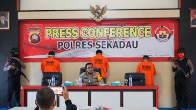 Polres Sekadau Gelar Press Release Pengungkapan Tindak Pidana Narkotika