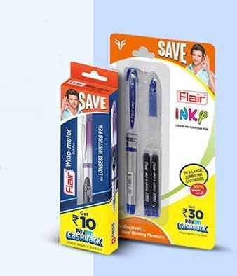 Buy Flair Pen and Get FREE Rs.10 or Rs.30 PAYTM Cash