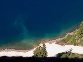 Aquamarine waters, Crater Lake