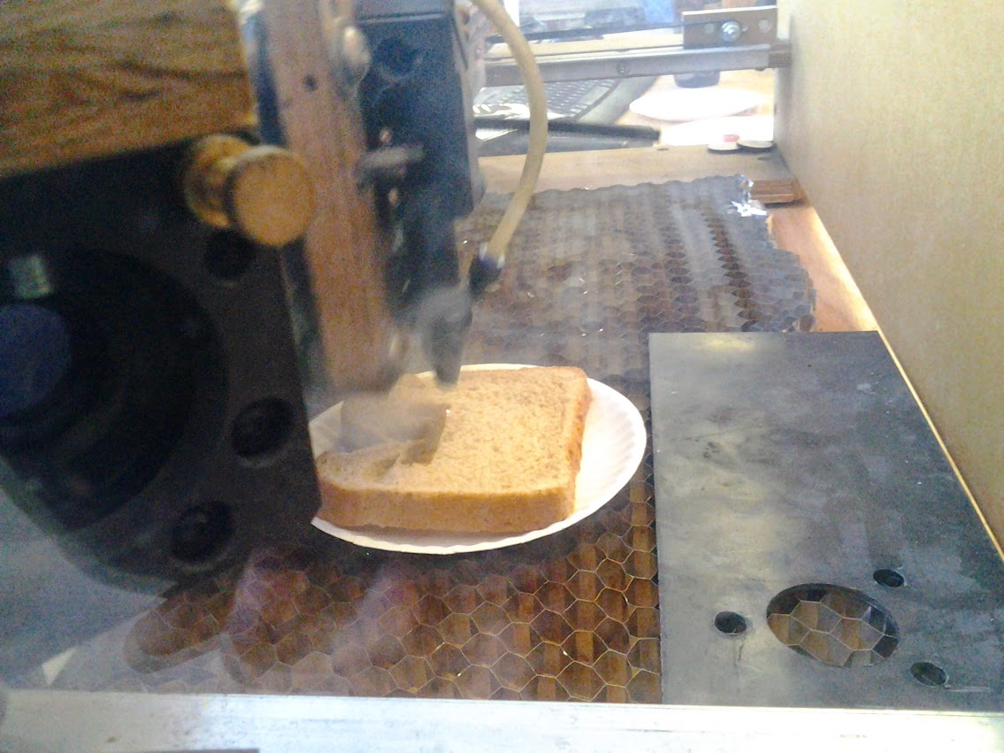 Toast attempt in the laser cutter