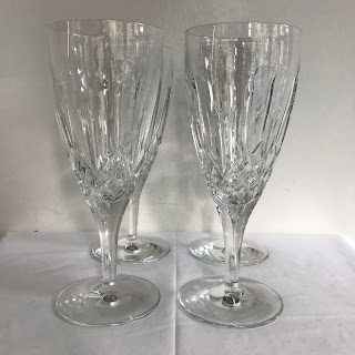 Waterford Crystal Lismore Goblets, Set of 4