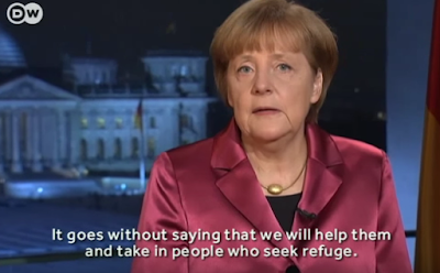 Chancellor Merkel warns against anti-Semitism while numbers of refugees increase