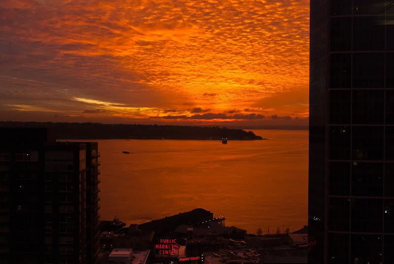 Seattle: widok z okna firmowego..