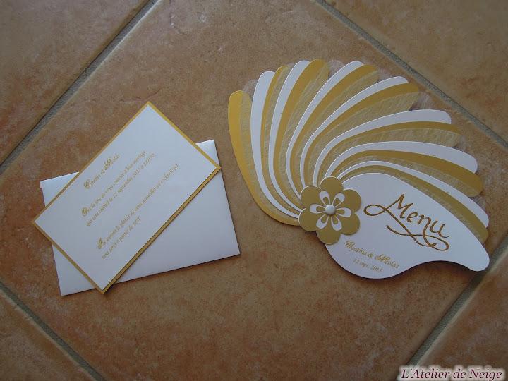 178 - Invitation Mariage  Cynthia et Nicolas 12 sept. 2015