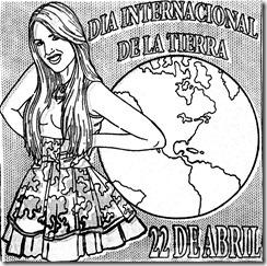 Dia internacional de la Tierra para colorear | 22 de abril dia de la tierra