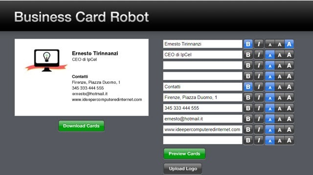 business-card-robot