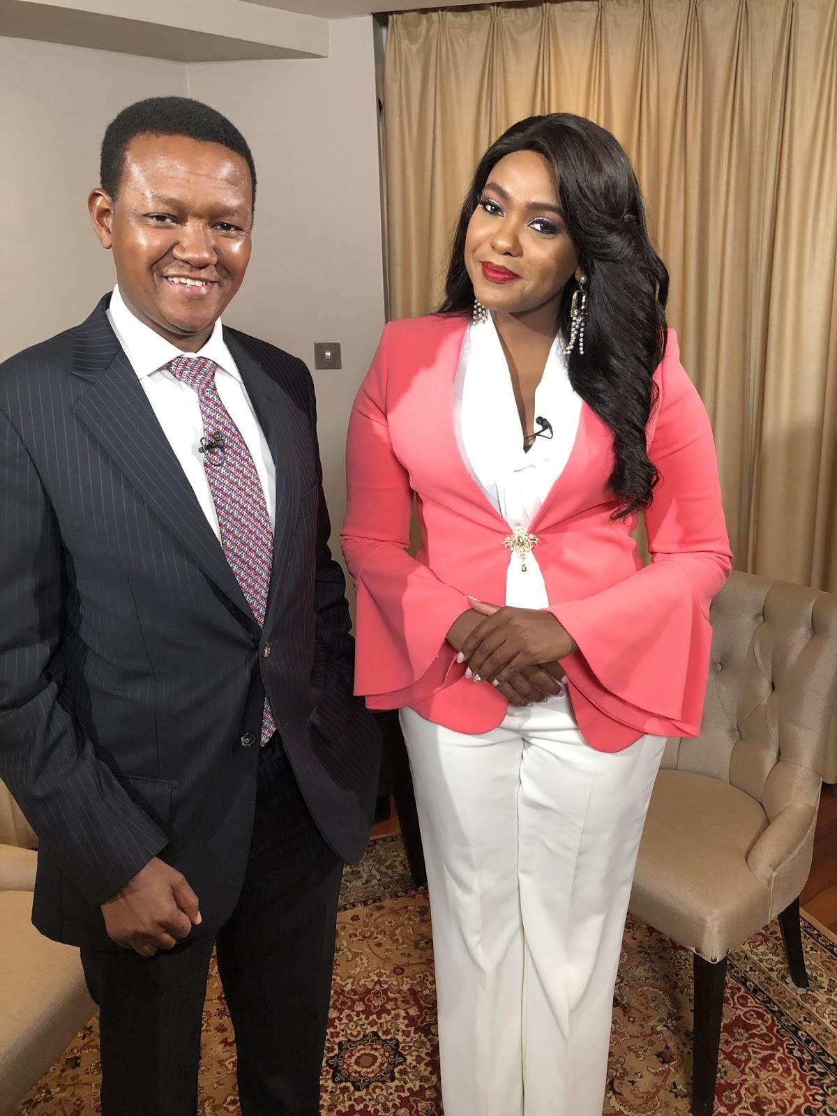 Machakos Governor Alfred Mutua on Punchline with Ann Kiguta. PHOTO | Mediamax