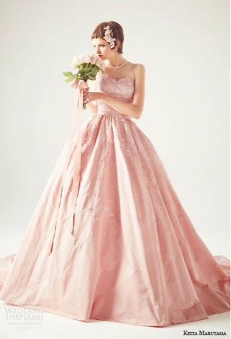 Pink Wedding Dress for brides