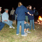 And the other fire for warming up the body.  It was a cool night.
