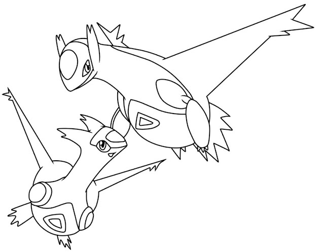 Free Coloring Pages Latias And Latios Pokemon