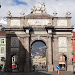 big gateway in Innsbruck, Tirol, Austria