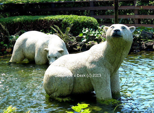 Bears in a pond